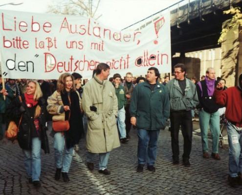 Siegmar Gabriel, nie wieder Deutschland Demo-1992-klein_6501-495x400
