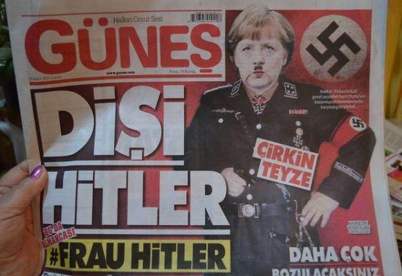 Merkel Zeitung Nazi