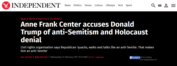trump holocaust denial