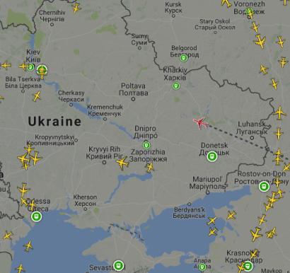Flugverkehr Ostukraine