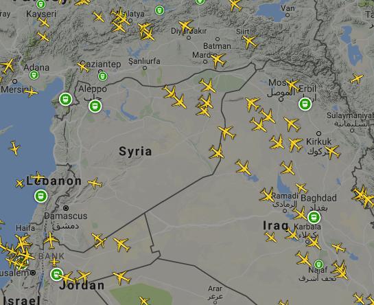 Flugverkehr Syrien